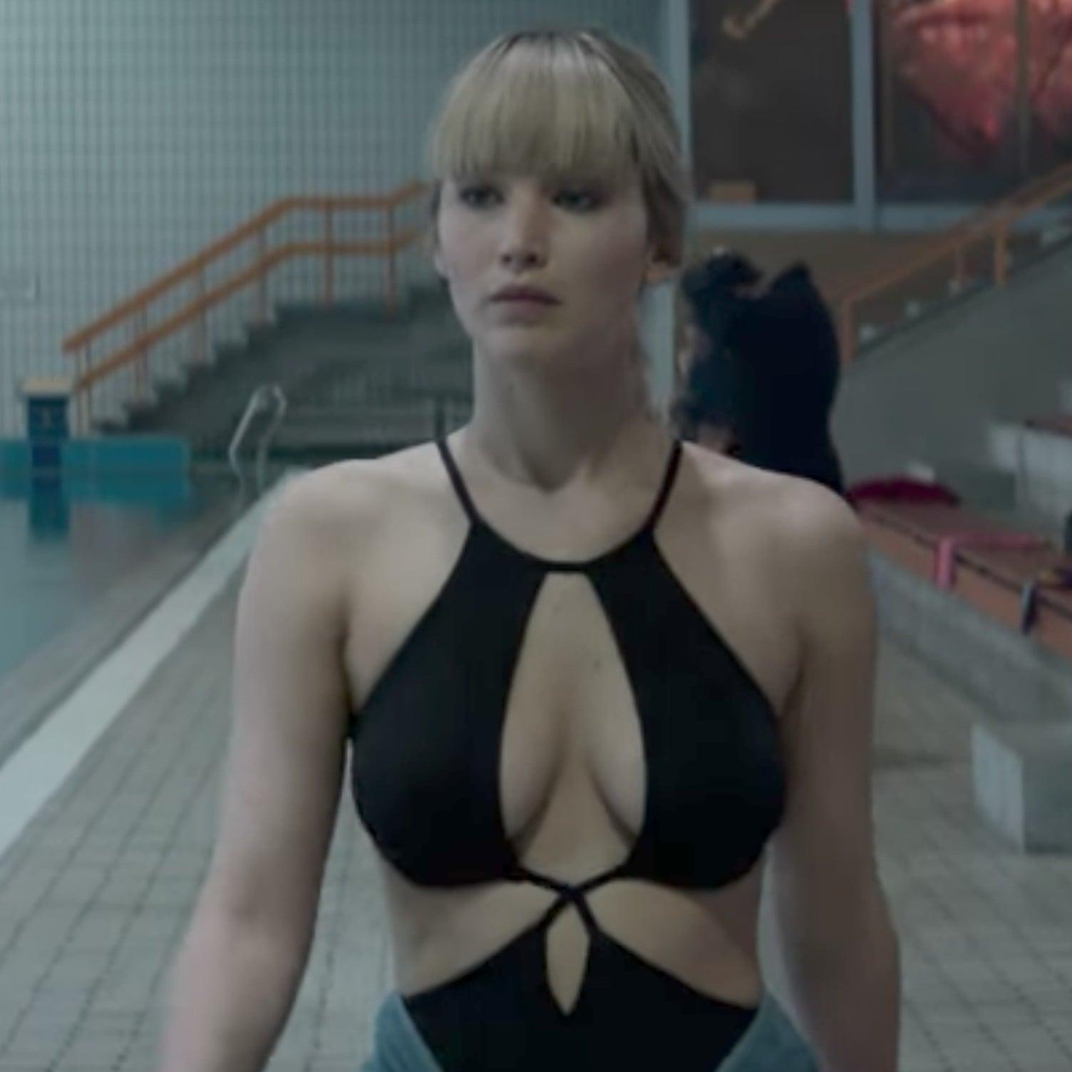 f98effc3f4 Jennifer Lawrence's Black One-Piece Swimsuit in Red Sparrow | POPSUGAR  Fashion