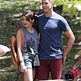 Does Haley Dunphy find love in Sydney? Sarah Hyland cosied up to a handsome co-star during a bush scene in Sydney on Feb. 21.