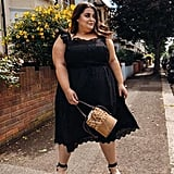 A Black Dress, Matching Sandals, and a Bucket Bag