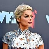 Bebe Rexha With Metallic Gold Eye Shadow at the MTV VMAs