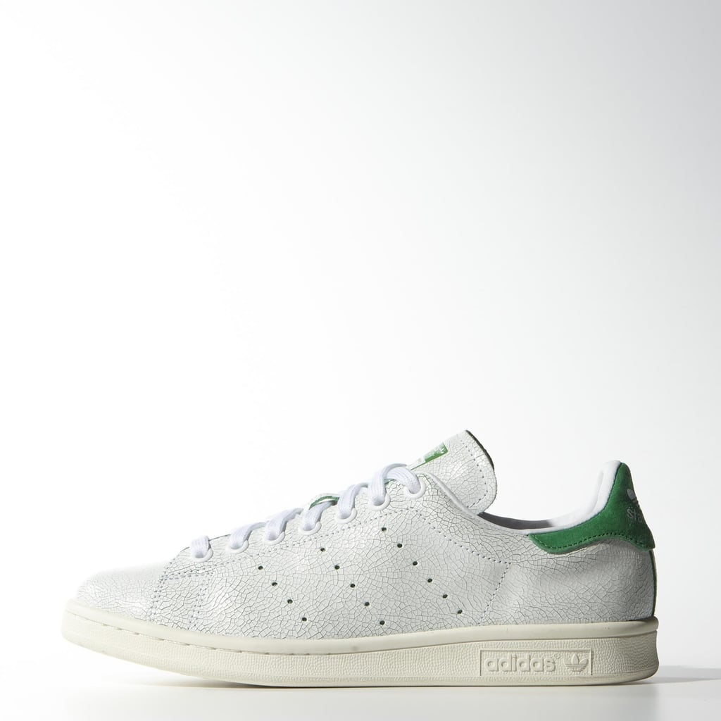 The revamped Stan Smith sits pretty in every street style star's closet, and our favorite silhouette ($75) is complete with these kelly green accents and crackled upper.