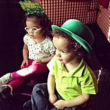 Mariah Carey shared a photo of her adorable twins on St. Patrick's Day.  Source: Instagram user mariahcarey
