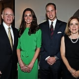 Prince William and Kate Middleton in Hancock Park.