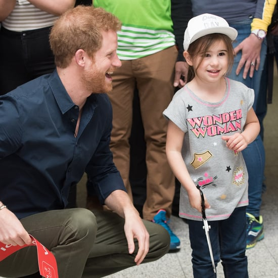 Prince Harry With Kids at London Marathon Expo April 2017