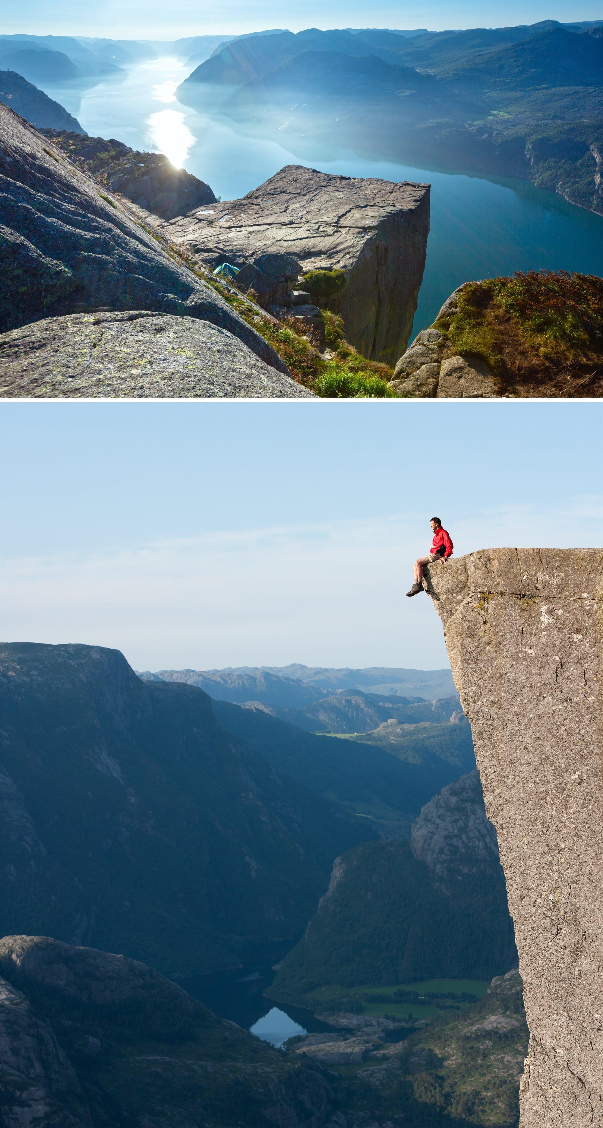 Sit on the Edge of Preikestolen in Norway
