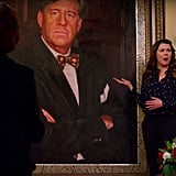 Emily has memorialized Richard with a giant painting.