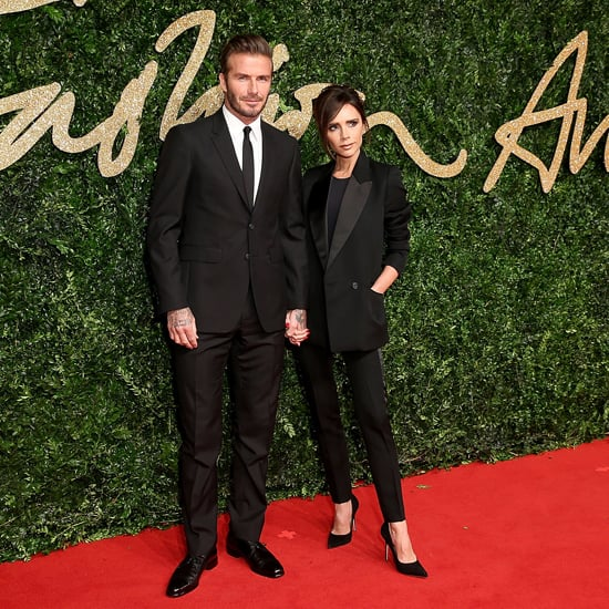 David and Victoria Beckham in Matching Suits | 2015