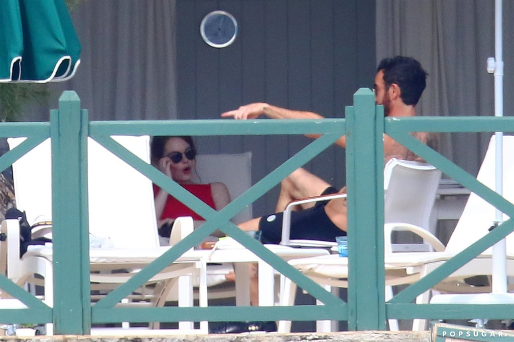 Emma Stone and Justin Theroux in France Pictures May 2018