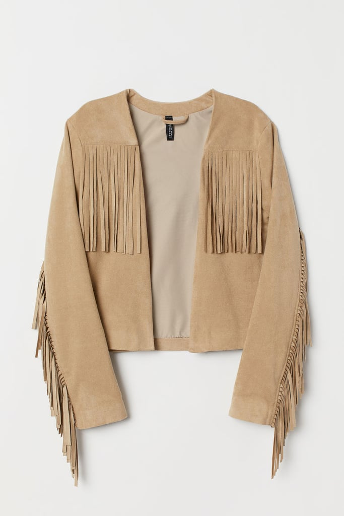 Pocahontas: H&M Beige Jacket With Fringe