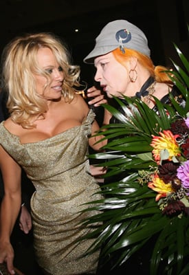Photo of Pamela Anderson and Vivienne Westwood