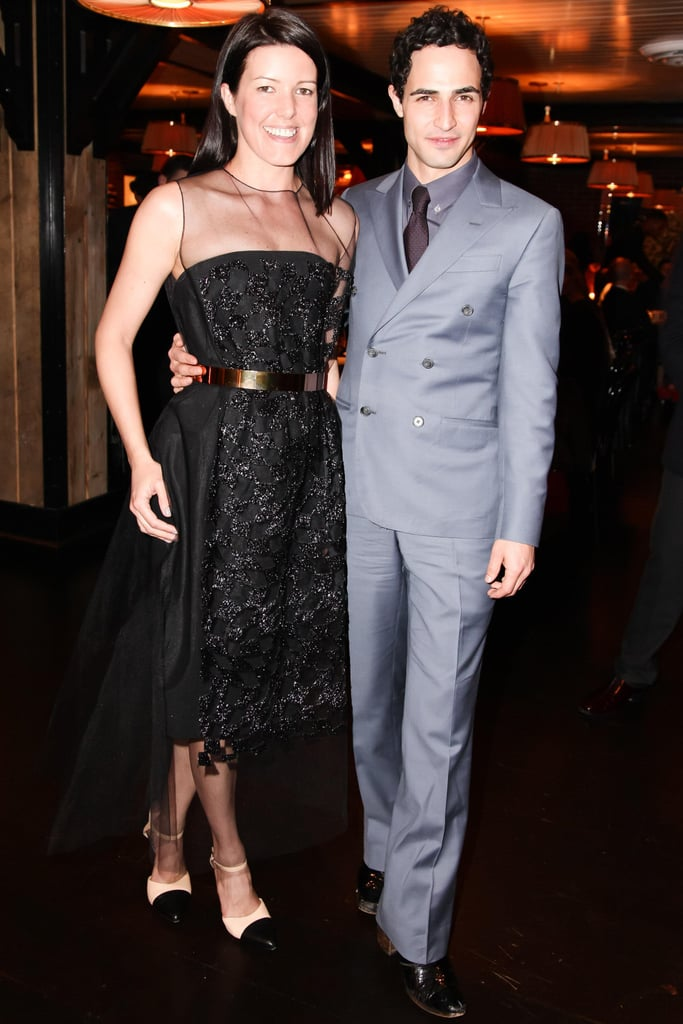 Melissa Rubini and Zac Posen at a dinner celebrating her new job as style director at InStyle. Source: Joe Schildhorn/BFAnyc.com