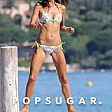 Alessandra Ambrosio smiled in France.