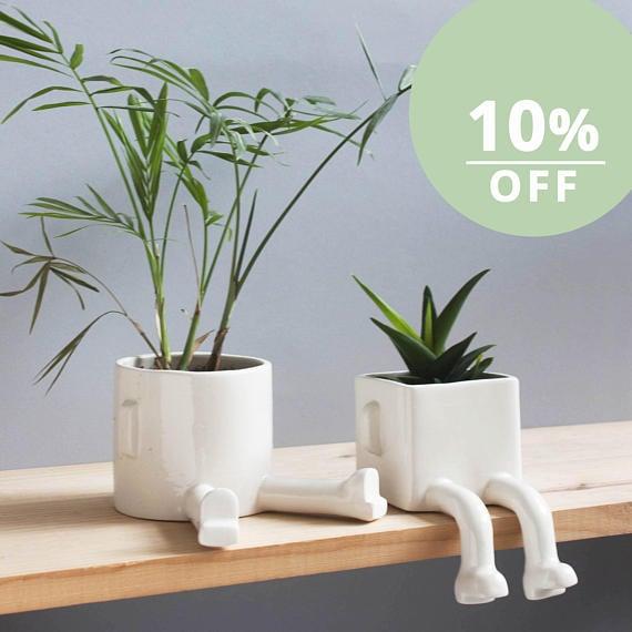 Wacamole Ceramic Sitting Planters