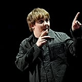 Lewis Capaldi on Stage at the 2020 BRIT Awards