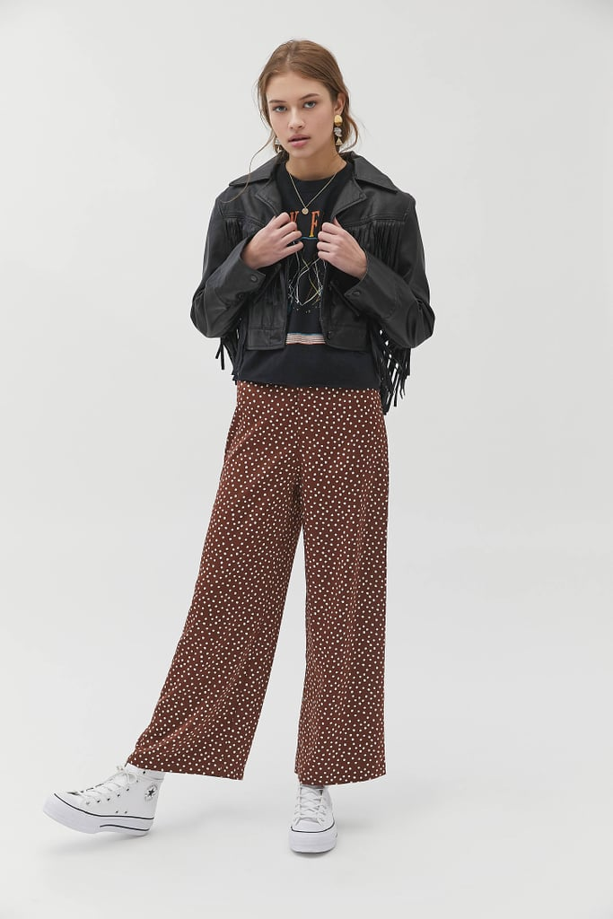 UO Olympia Satin Wide Leg Pants