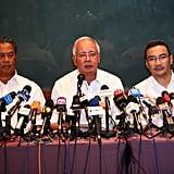Deputy Prime Minister of Malaysia Tan Sri Muhyiddin Yassin, Prime Minister Najib Razak, and Minister of Transport Datuk Hishammuddin Hussein updated the media on search efforts on Saturday.