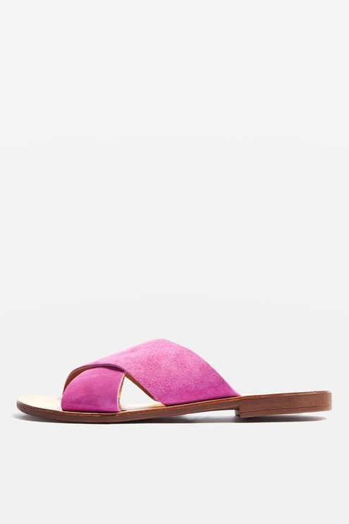 Topshop Hawaii Cross-Strap Sandals