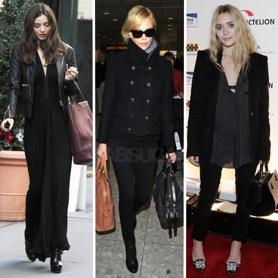 Miranda, Charlize, and Ashley Show 3 Perfect Ways to Wear All Black