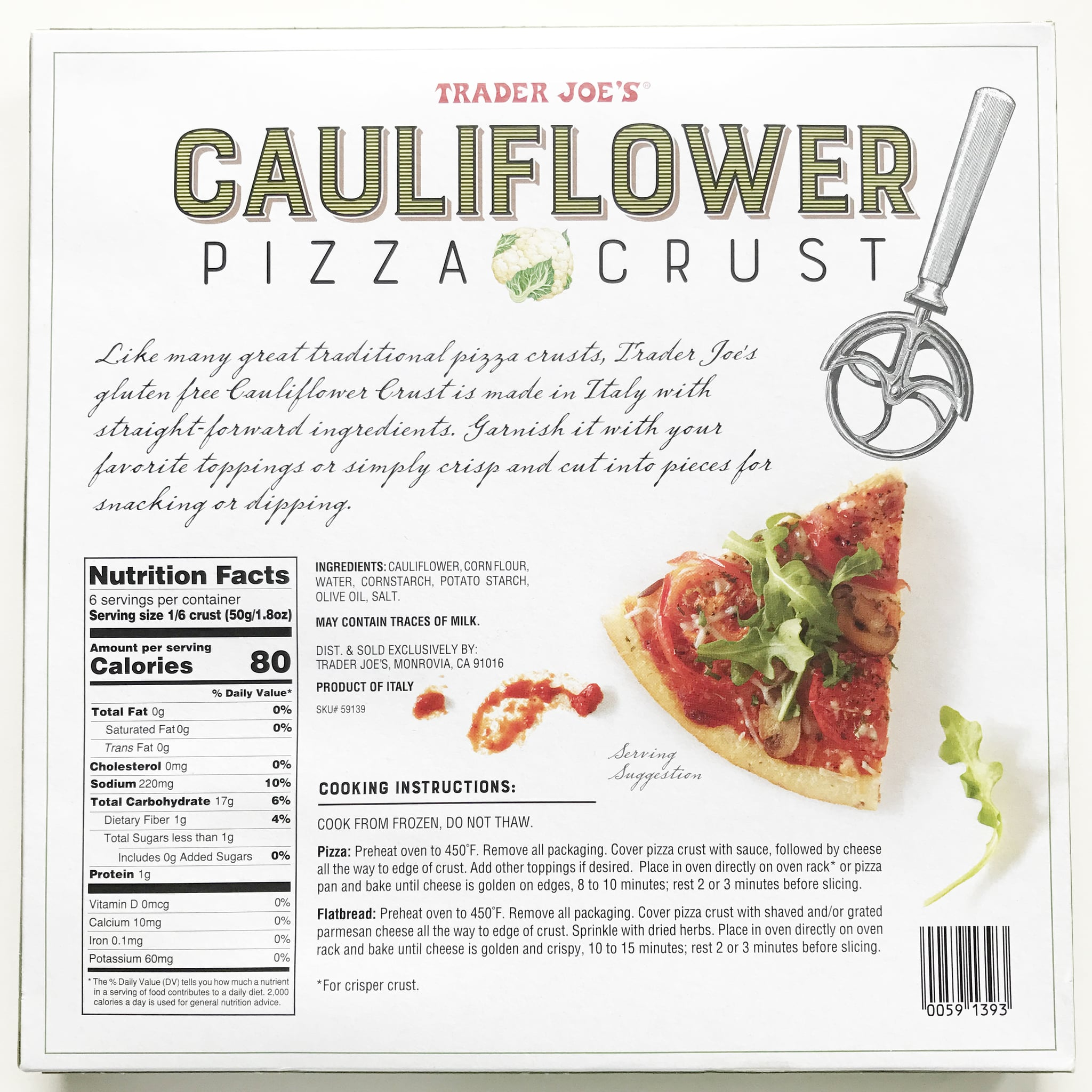 Cauliflower Pizza Crust Whole Foods
