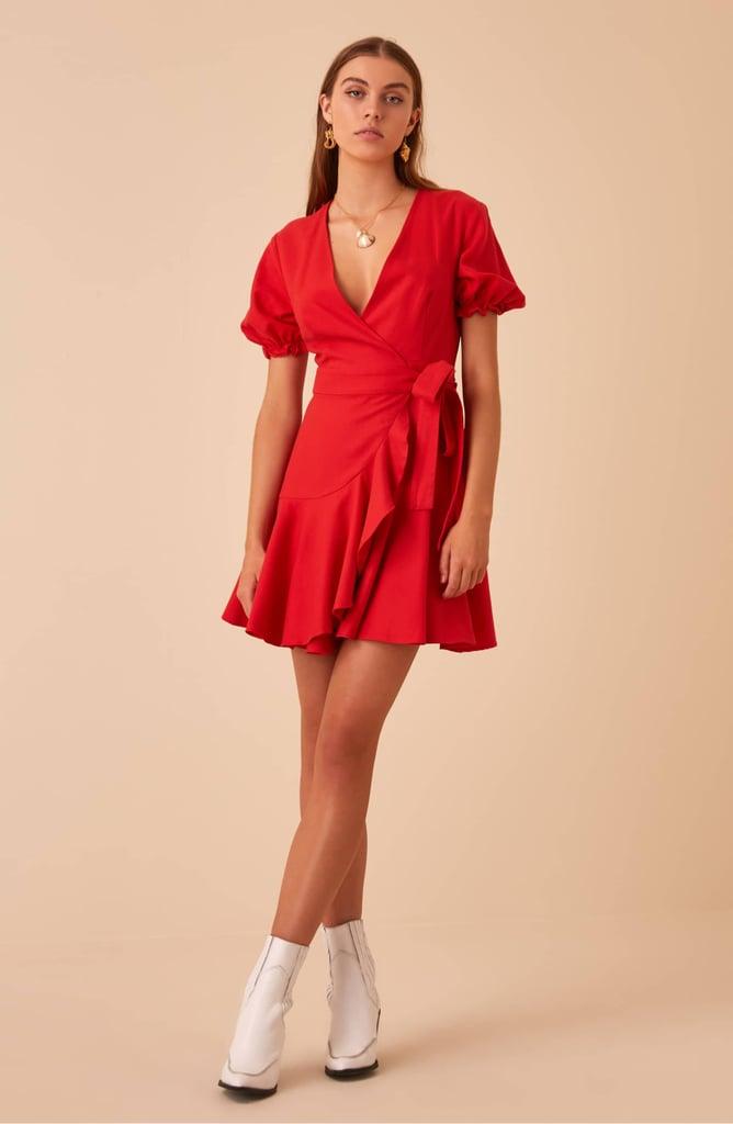 Finders Keepers Aranciata Wrap Dress