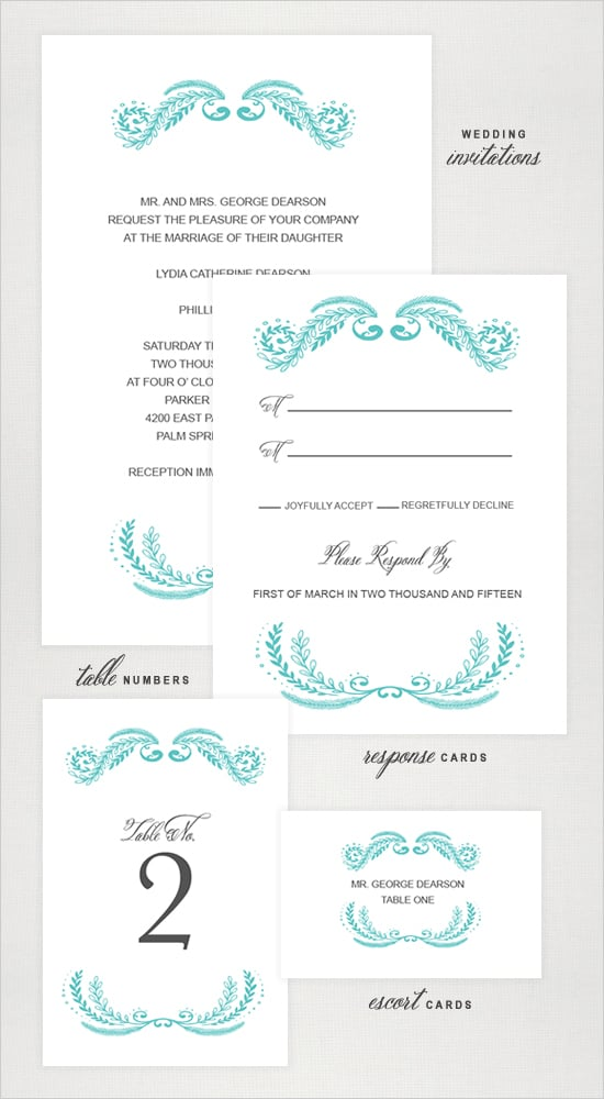 Fancy Emblem Wedding Invitation
