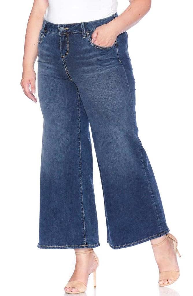 SLINK High Waist Wide Leg Crop Jeans
