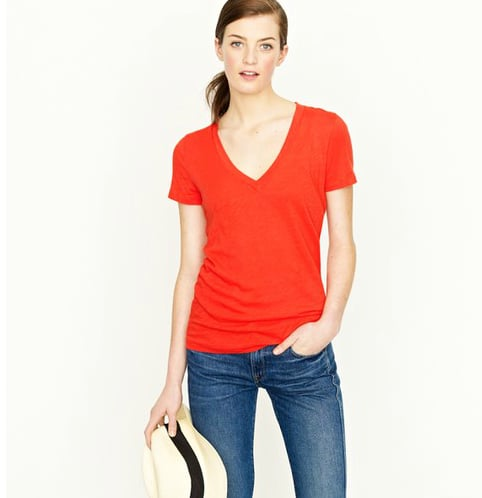 """I pretty much wear a v-neck tee every day, and J.Crew's comfy, tissue-thin tees are already a favorite of mine. I'm planning on ordering a few emblazoned with my initials for a slightly preppy, personal touch."" — Brittney Stephens, assistant editor  J.Crew Vintage Cotton V-Neck Tee ($30 + $10 for monogram)"