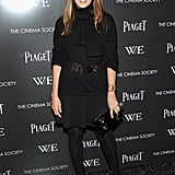Nina Garcia channeled a sophisticated look in all black for the W.E. screening.