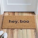 Hey, Boo Nickel Designs Hand-Painted Doormat