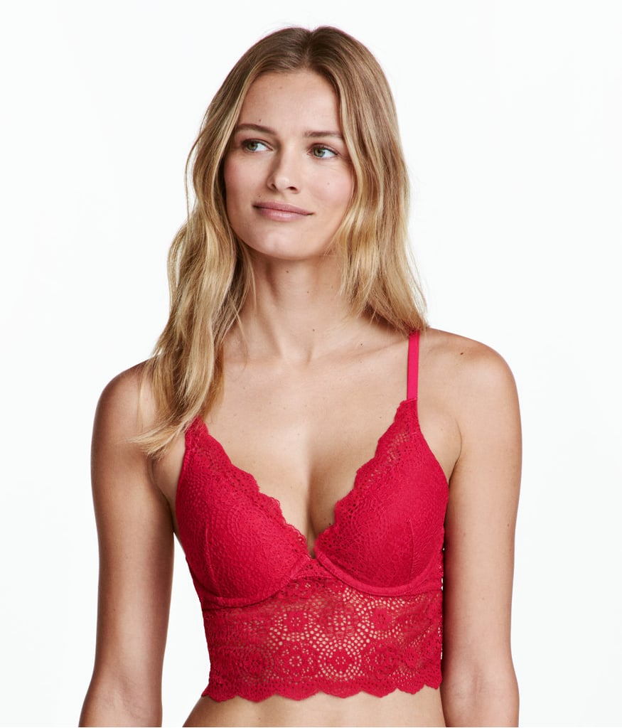 You'll love the deep magenta shade of H&M's Lace Bralette ($20)