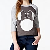 Minnie Mouse High-Low Baseball T-Shirt