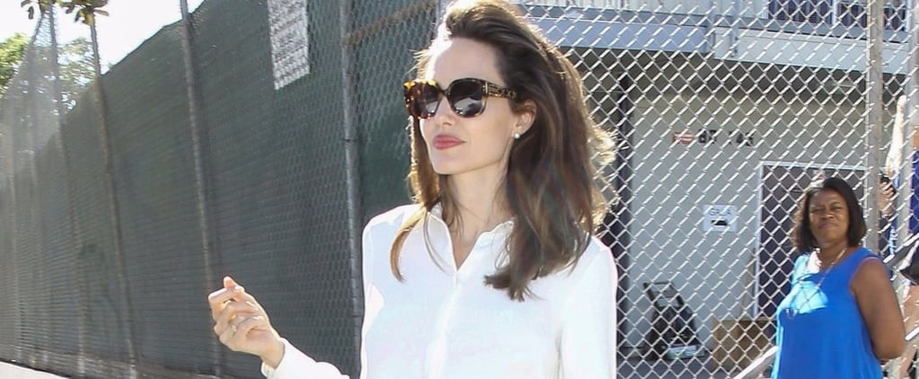 Angelina Jolie Somehow Made a Pencil Skirt and Blouse Look Superbly Glamorous
