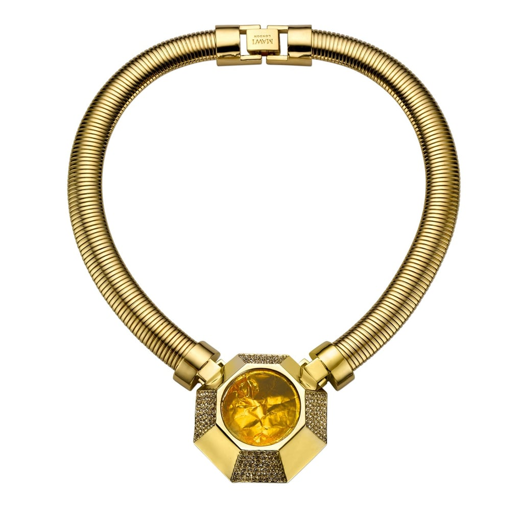 For the girl who likes to make a statement, this Mawi hexagon foil and chain necklace ($846) is the ultimate, irresistible, show-stopping piece.