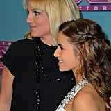 Britney Spears posed for photos with her protégée Carly Rose Sonenclar.