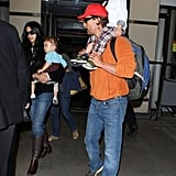 Matthew McConaughey and Camila Alves with their children Levi and Vida.