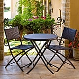 Rst Brands Woven Rattan Bistro Set