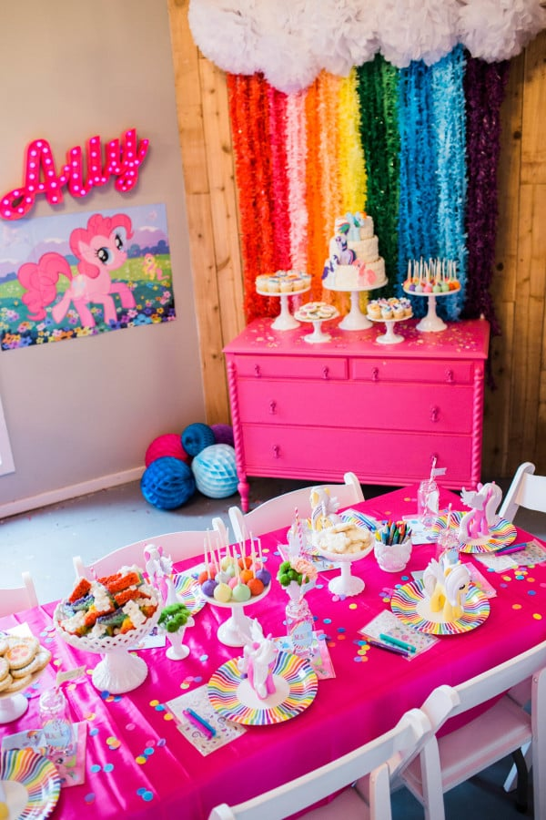 Rainbow themed my little pony party popsugar moms for Craft sets for 7 year olds