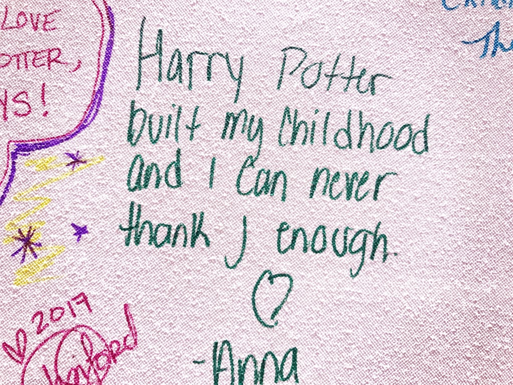 """Harry Potter built my childhood and I can never thank J enough."""