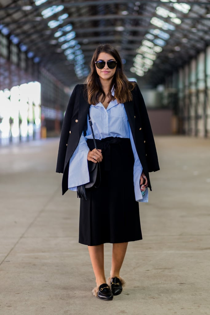 Wear It With a Midi Skirt and Loafers