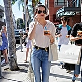 But we all know Kendall's favorite style is the double buckle from B-Low the Belt: she wears it all the time!