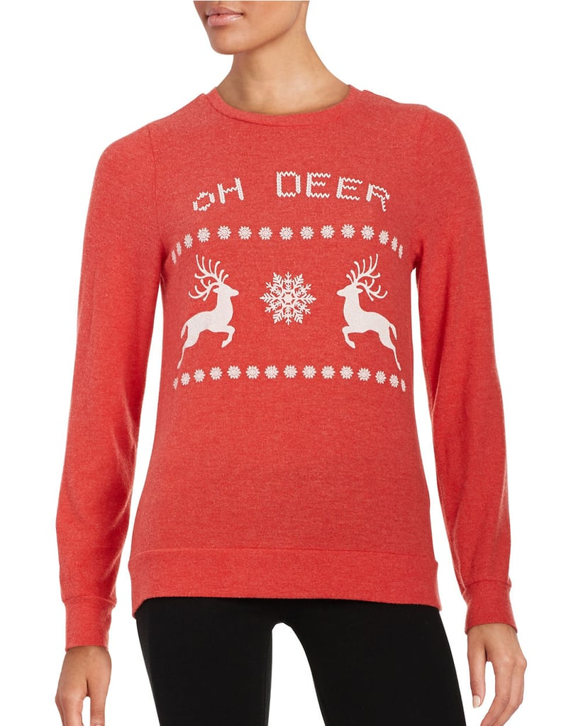 SIGNORELLI Long Sleeve Reindeer Christmas Sweatshirt ($58)