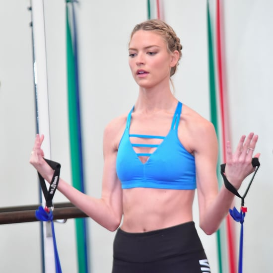 Karlie Kloss and Martha Hunt Workout