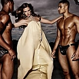 Good Morning! Alessandra Ambrosio Works It With Some Hunky, Half-Naked Models