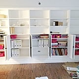 DIY Ikea Built-In Bookcases