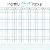 Insane image regarding monthly goal tracker printable