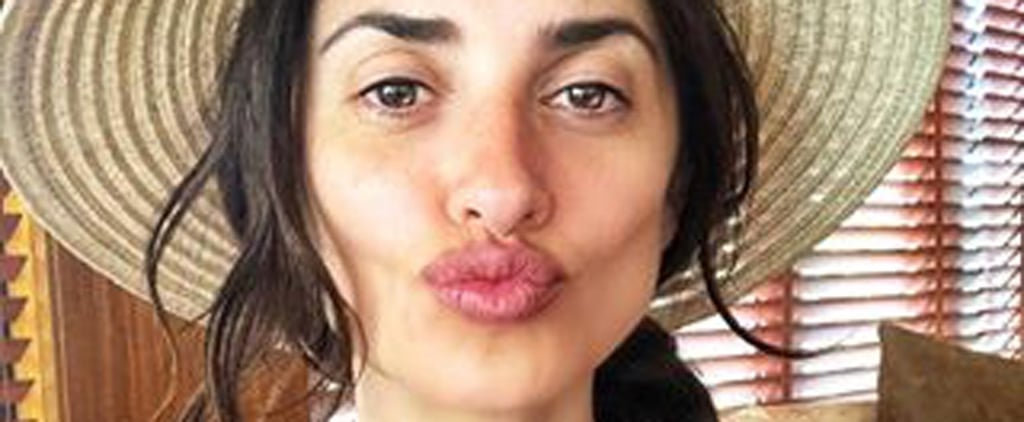 Penélope Cruz Makeup-Free Selfie May 2018