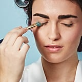 Use loose powder as an alternative to false lashes.