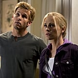 Ryan Kwanten as Jason and Anna Paquin as Sookie on True Blood.