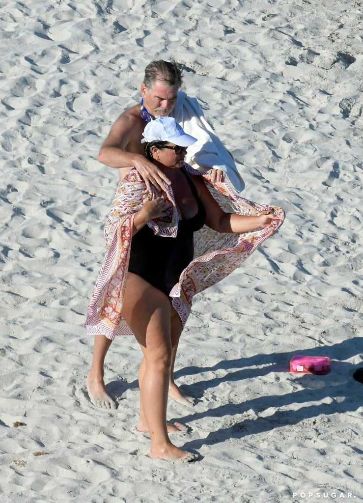 Pierce Brosnan and wife Keely Smith are currently enjoying a romantic vacation in Italy, and on Tuesday, the longtime couple was photographed relaxing on a yacht. The pair — who will be celebrating 16 years of marriage in August — made the most of their time out at sea as they went for a swim in the ocean, and Pierce even took a few dives into the crystal blue water, reminding us of his James Bond days. The actor also put his chivalrous ways on display as he helped his wife towel off on the beach and assisted her onto an inflatable boat.       Related:                                                                                                           Pierce Brosnan and Keely Smith's Romance Is Straight Out of a Nicholas Sparks Novel               Pierce and Keely's Italian getaway comes nearly a month after their PDA-filled trip to Hawaii. The actor, who turned 64 on May 16, gave himself the ultimate birthday present by relaxing on the island and soaking up the sun with his other half. We can't wait to see where they pop up next!
