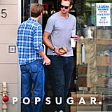 Alexander Skarsgard and Jack McBrayer grabbed lunch at The Oaks Gourmet.